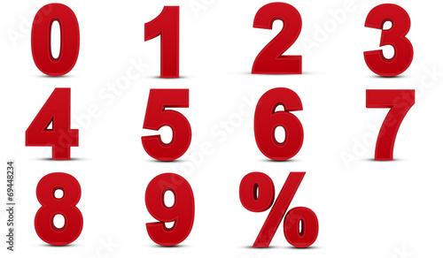 Fotografía  Three dimensional numbers