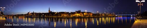 Panoramic view of Szczecin (Stettin) City at night, Poland. © MaciejBledowski