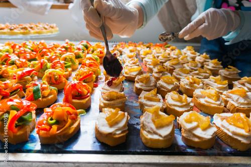 Fotografie, Obraz  Arranging catering food