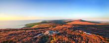 Panoramic View From Cronk Ny Arrey Laa - Isle Of Man