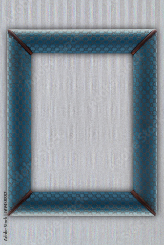 old picture frame on a gray background