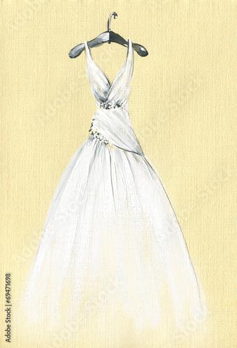 Foto  art sketch of beautiful dress