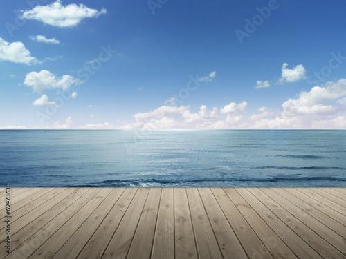 Blick vom Pier Canvas Print