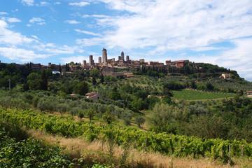 Fototapeta na wymiar Toscana - San Gimignano