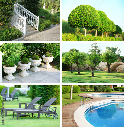 Collage of beautiful nature landscaping