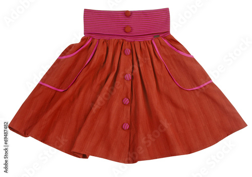 red skirt isolated on white - 69487482