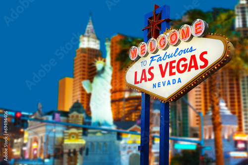 Fotobehang Las Vegas Welcome to Las Vegas neon sign