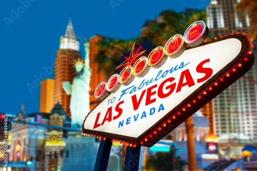 Foto op Aluminium Las Vegas Welcome to Las Vegas neon sign