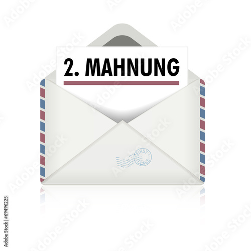 Brief Zweite Mahnung Buy This Stock Vector And Explore