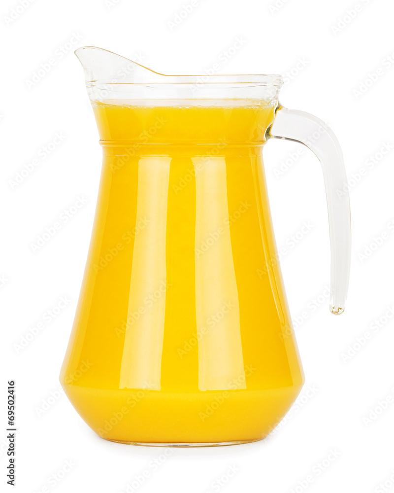 Fototapety, obrazy: Fresh orange juice in pitcher