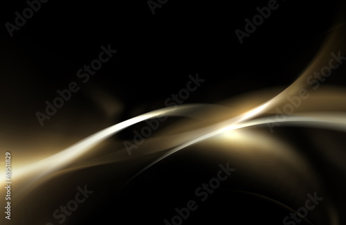Fond de hotte en verre imprimé Abstract wave Gold and black shiny wave abstract background