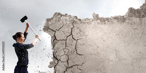 Fotografie, Obraz  Overcoming challenges