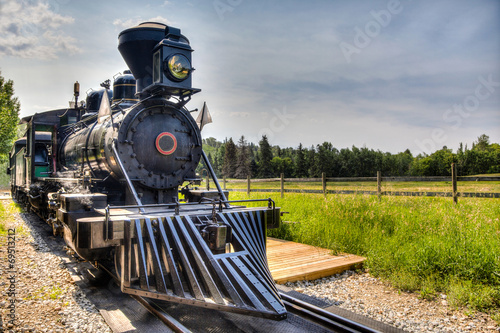 Photo Vintage Steam Locomotive