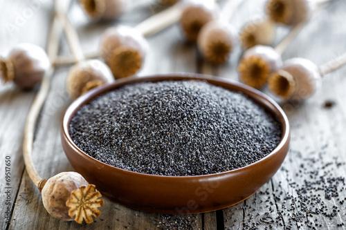 Photo sur Toile Poppy Poppy seeds