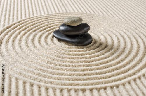 Foto op Plexiglas Stenen in het Zand Japanischer Zengarten