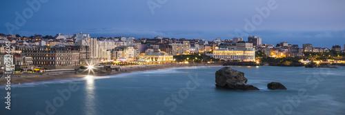 Biarritz Grande Plage beach at twilight Wallpaper Mural