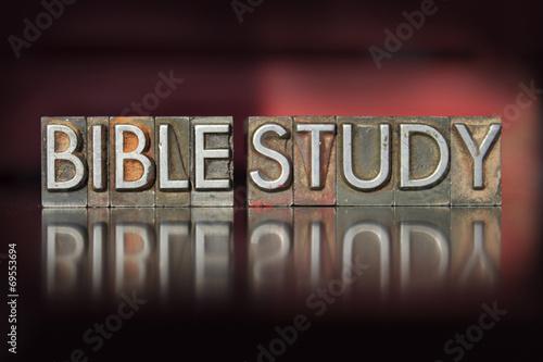 Fotografia  Bible Study Letterpress