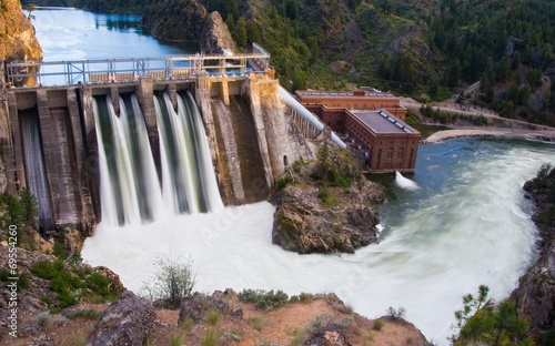 Canvas Prints Dam Long Lake Dam
