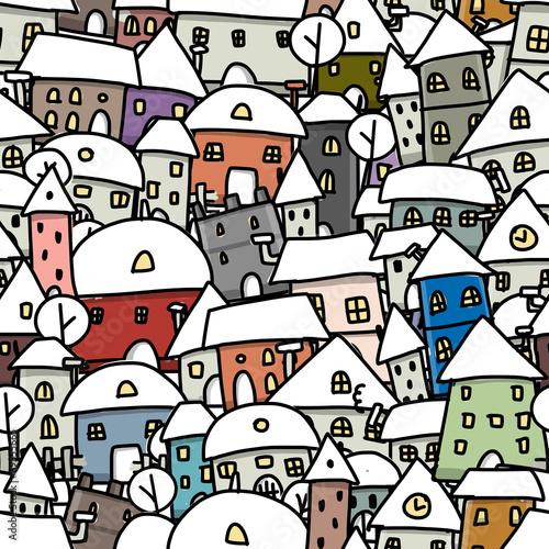 zimowe-miasta-szkic-wzor-dla-swojego-projektu