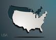 USA 3D paper map / jigsaw