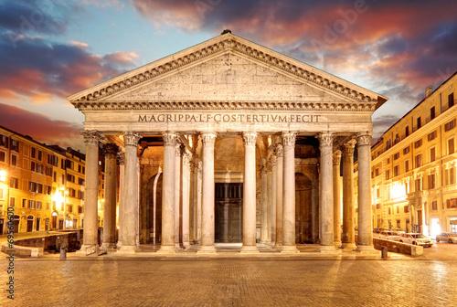 Poster Rome Pantheon - Rome at sunset