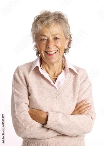 Photo donna che sorride