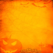 Grunge Orange Halloween Backgr...