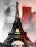 Paris Gemälde Eiffelturm Eifelturm Bild Kunst Ölgemälde
