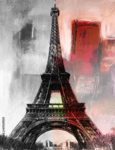 obraz-olejny-w-paryzu-wieza-eiffla-obraz-olejny-w-stylu-sztuki