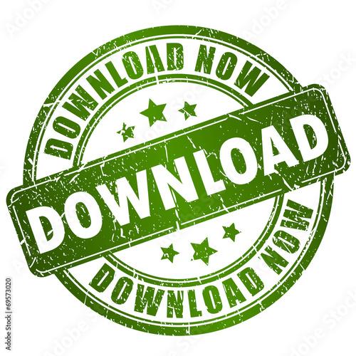 Fototapeta Download stamp obraz na płótnie