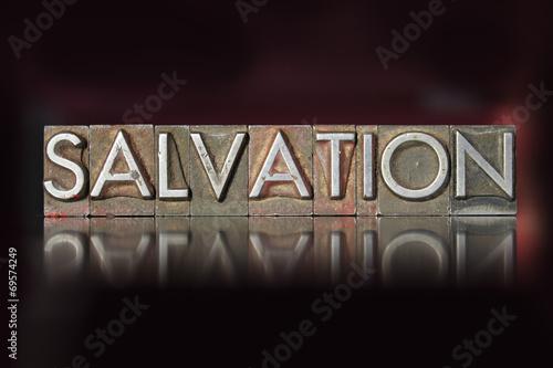 Fotografie, Obraz  Salvation Letterpress