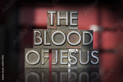 Photo The Blood of Jesus Letterpress
