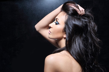 Fototapeta Piękne zdrowe włosy.
