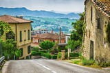 Italian street in a small provincial town of Tuscan - 69581627