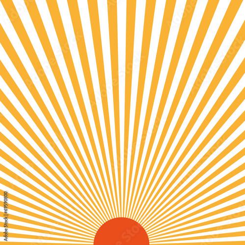 Fotografie, Obraz  Sunburst pattern. Vector illustration. Rays of light sun