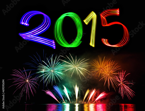 New Year's Eve 2015 with Fireworks Poster