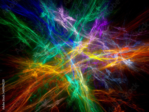 Colorful chaos in space