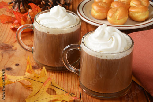 Spoed Foto op Canvas Chocolade Hot chocolate for the holidays