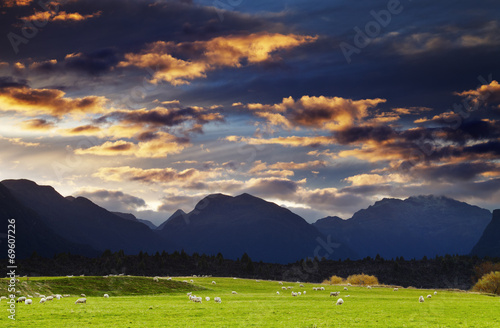 Mountain landscape, New Zealand