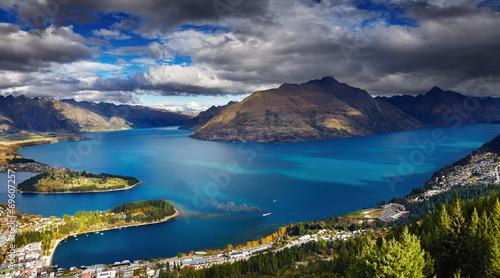 Poster Nouvelle Zélande Wakatipu lake, New Zealand