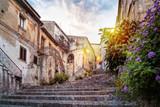 Fototapeta Uliczki - Mystic alley in italian old town