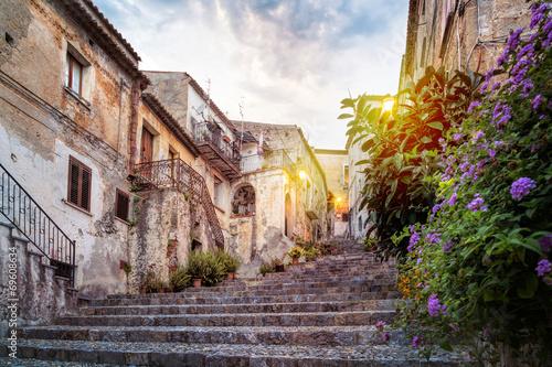 Fotografie, Obraz  Mystic alley in italian old town