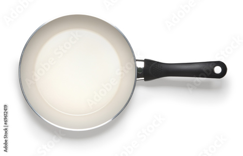 Fototapeta empty pan isolated on whitte abckground with clipping path obraz