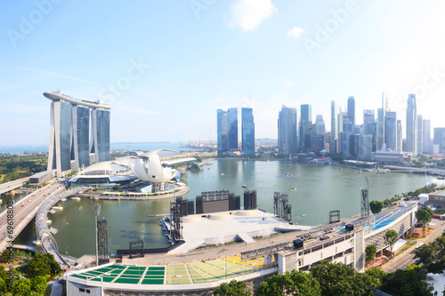 Photo  cityscape of singapore in the daytime