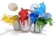 canvas print picture - Farbdosen mit verschiedenen Farben