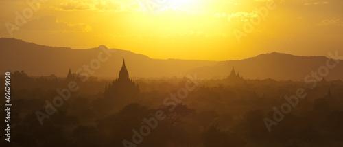 Foto op Plexiglas Purper Bagan panorama