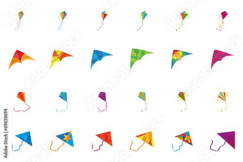 kite set Canvas Print