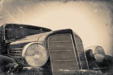 Fragment Of Old Car, Vintage S...