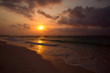 sunset over the Carribean sea