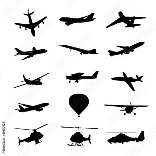 0057 飛行機シルエット